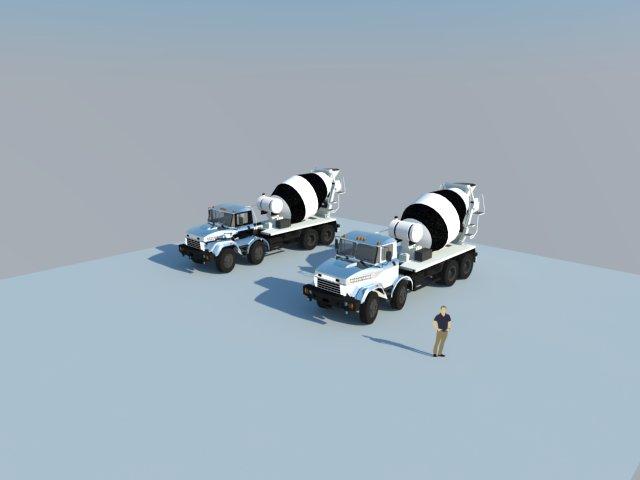 Para Tecnimixer se desarrolla modelos 3d para simulaciones de publicidad vehicular.