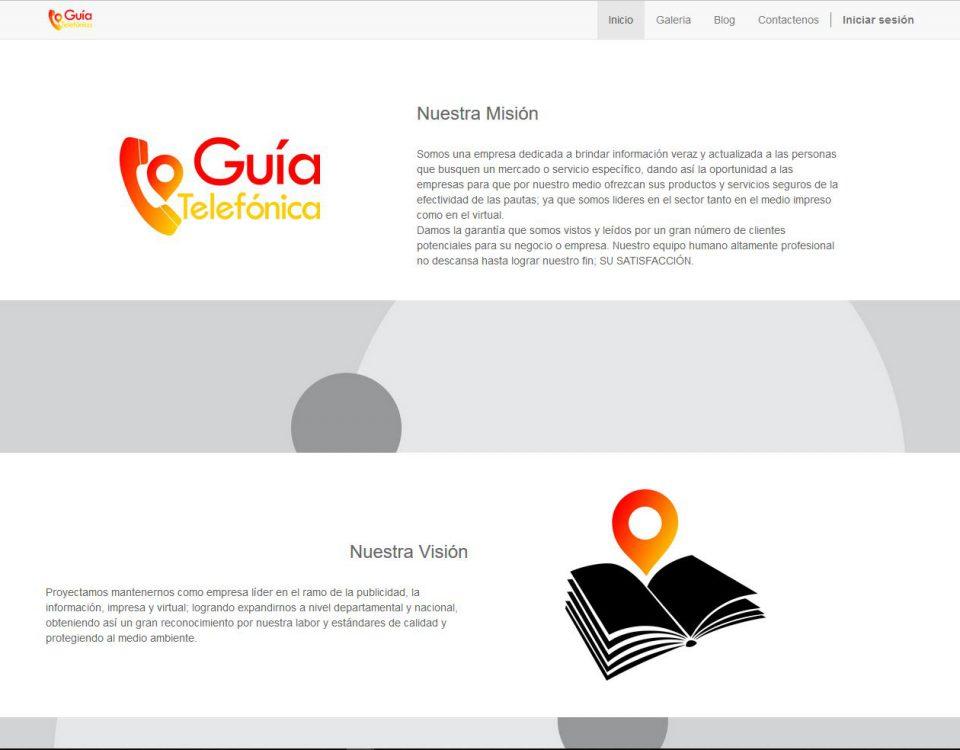 Una página de muestra para la guía telefónica en sabana de occidente