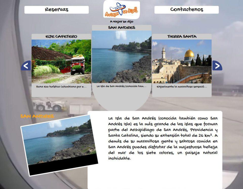 Para la prestigiosa agencia de viajes creamos una experiencia unica para el usuario en la página web