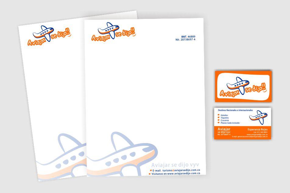 Diseño y creacion de papeleria corporativa para esta importante agencia de viajes