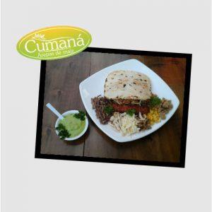 Deliciosa arepa de nuestro cliente Arepás Cumaná