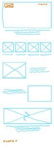 Rapido trazo de lineas para proyectar una imagen mental sobre una superficie.